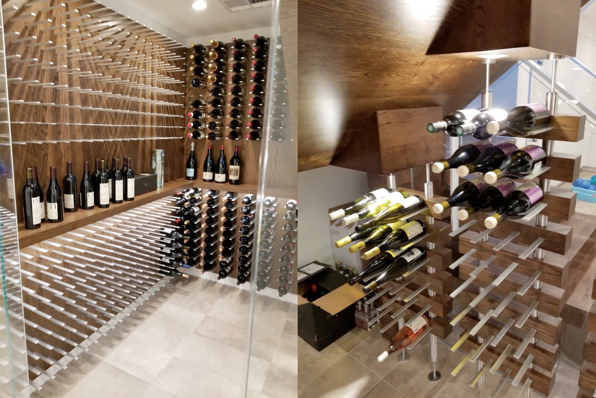 Variable Height Wine Racking Display For Wine Cellars