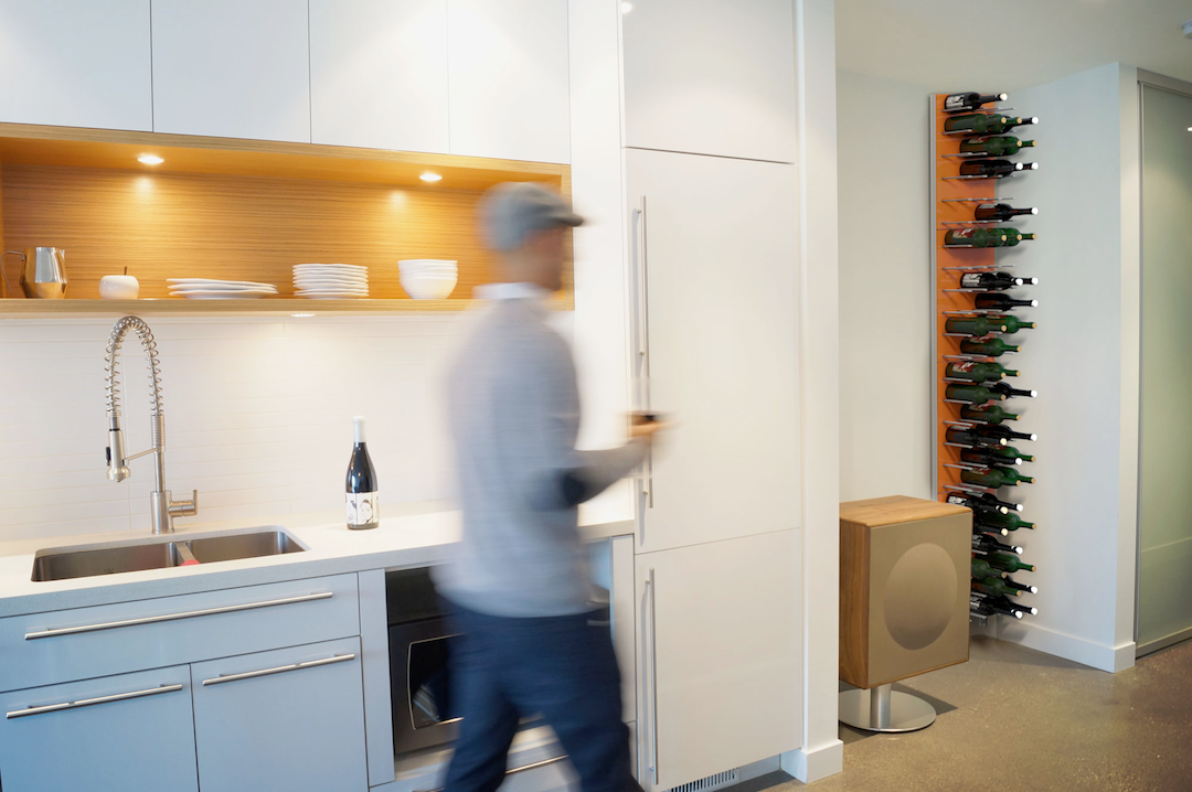 scandi interior design - wine racks wall storage