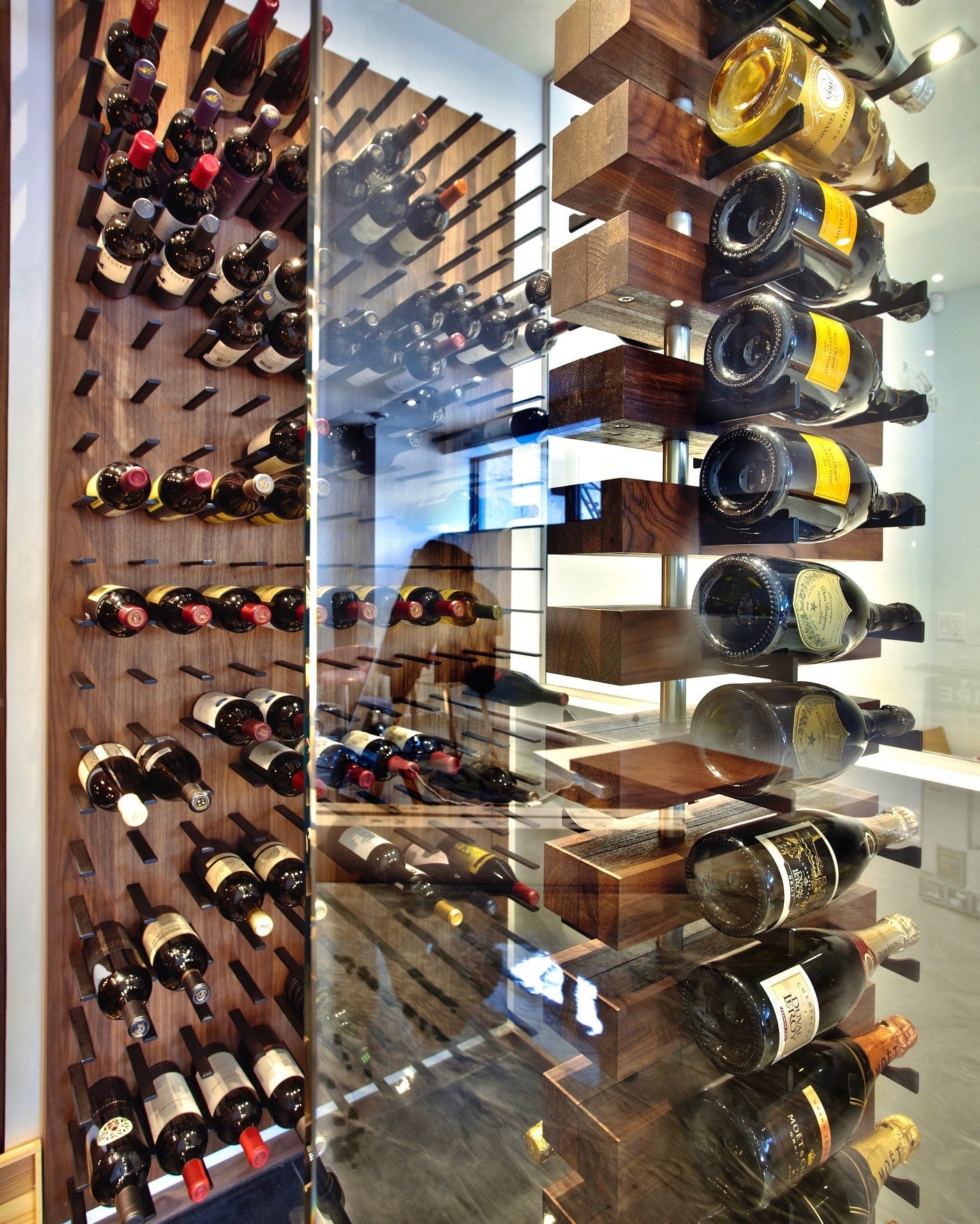 floor to ceiling magnum wine bottle storage wine cellar