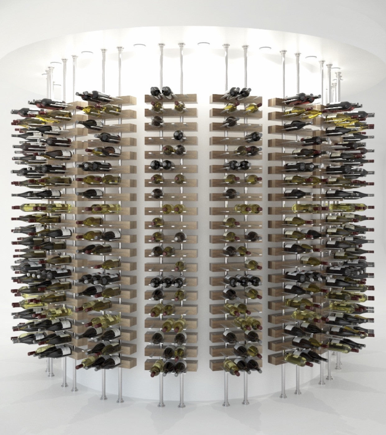 floor to ceiling wine racks