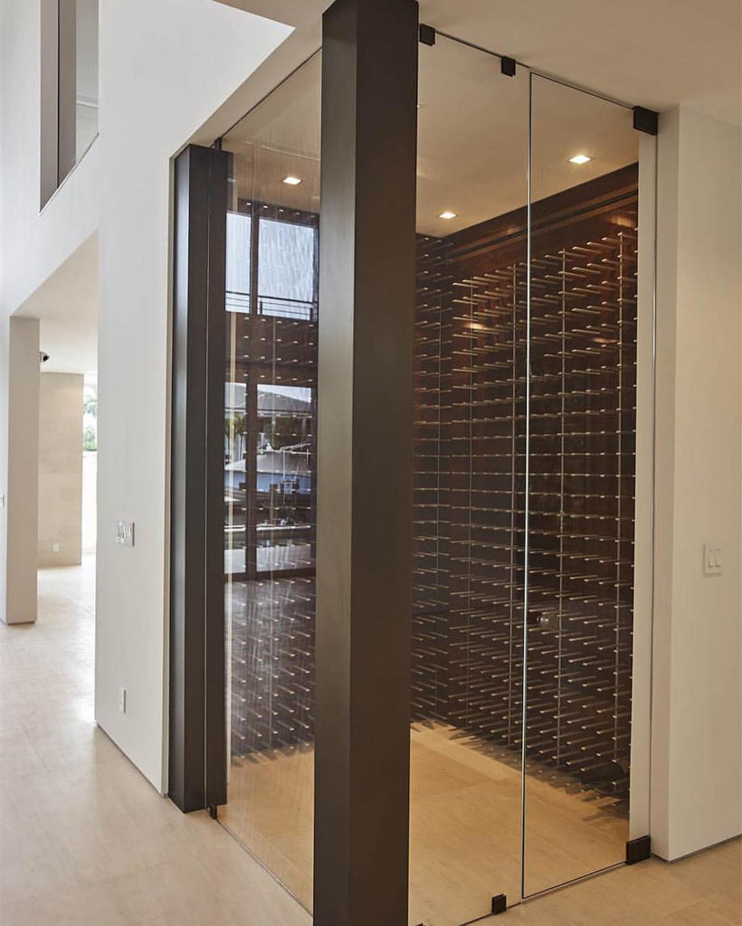glass enclosed wine cellar - Las Olas Isles, florida