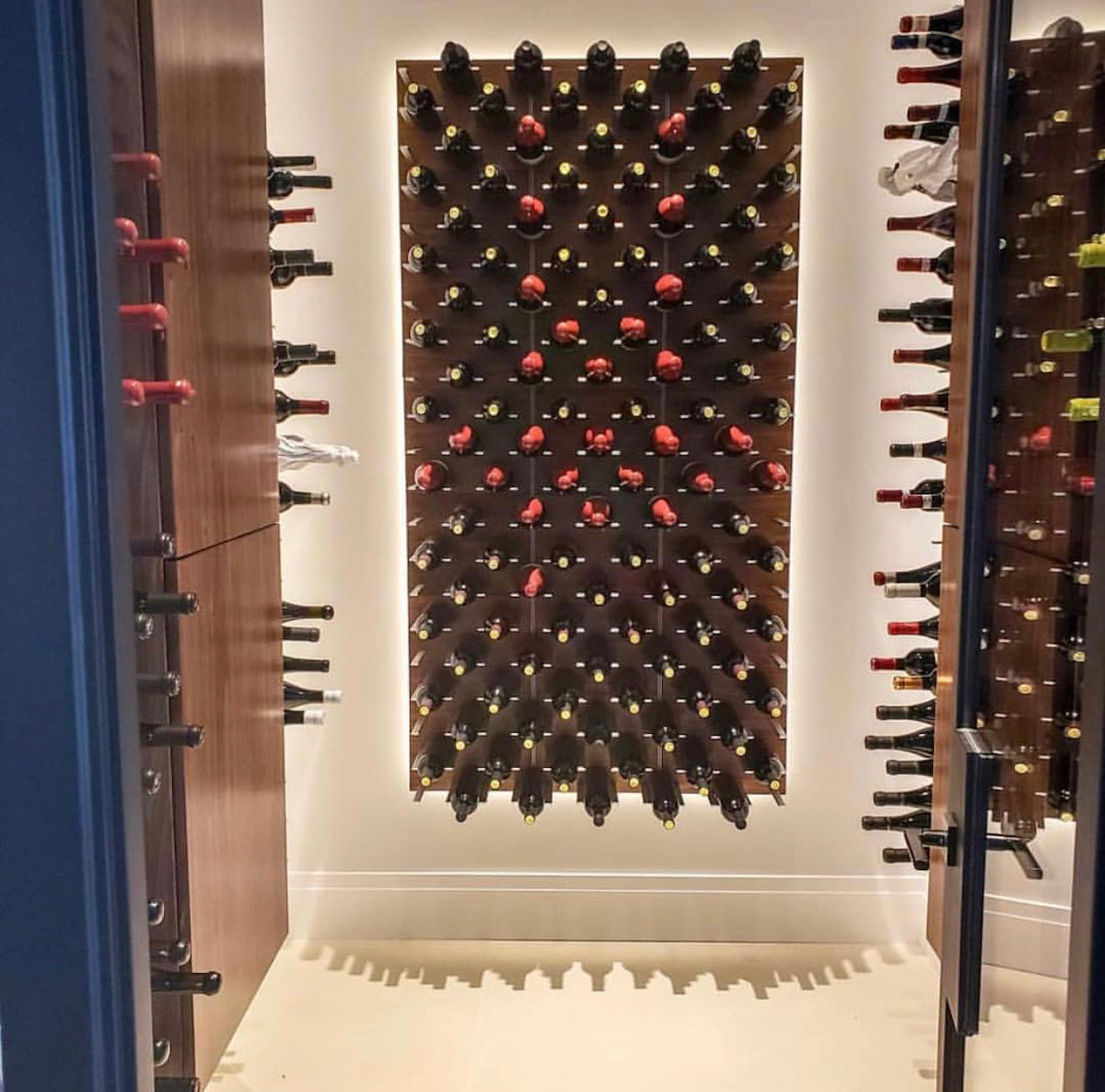 glass door wine room