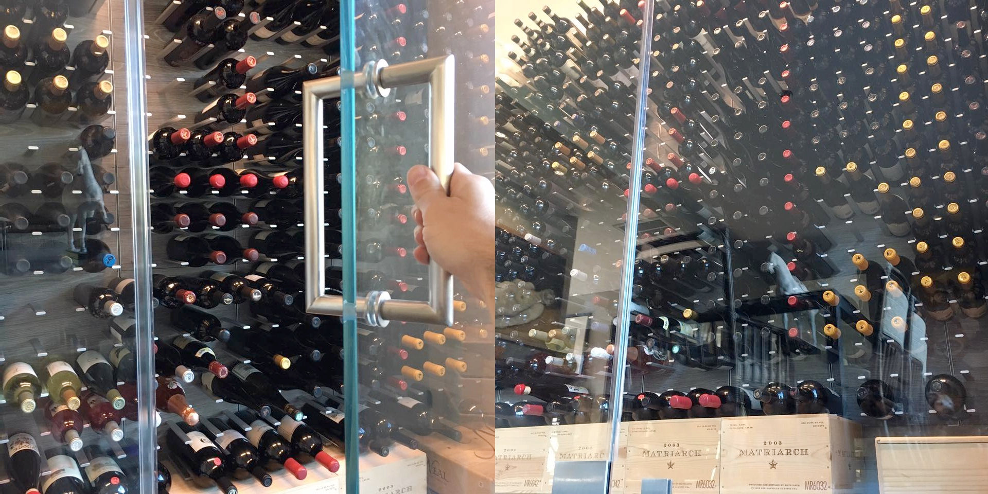 glass doors for wine cellar
