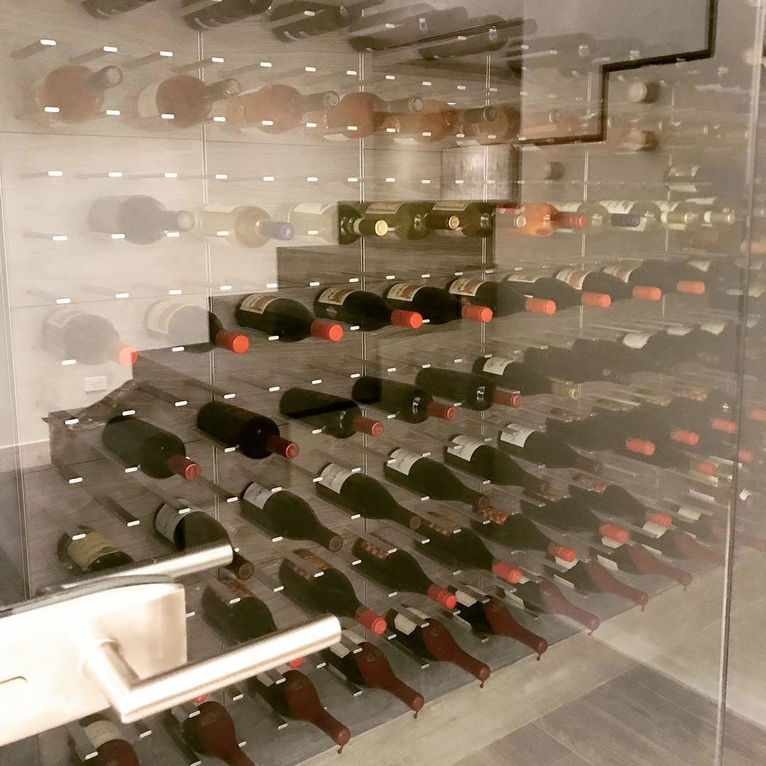 glass cellar enclosure