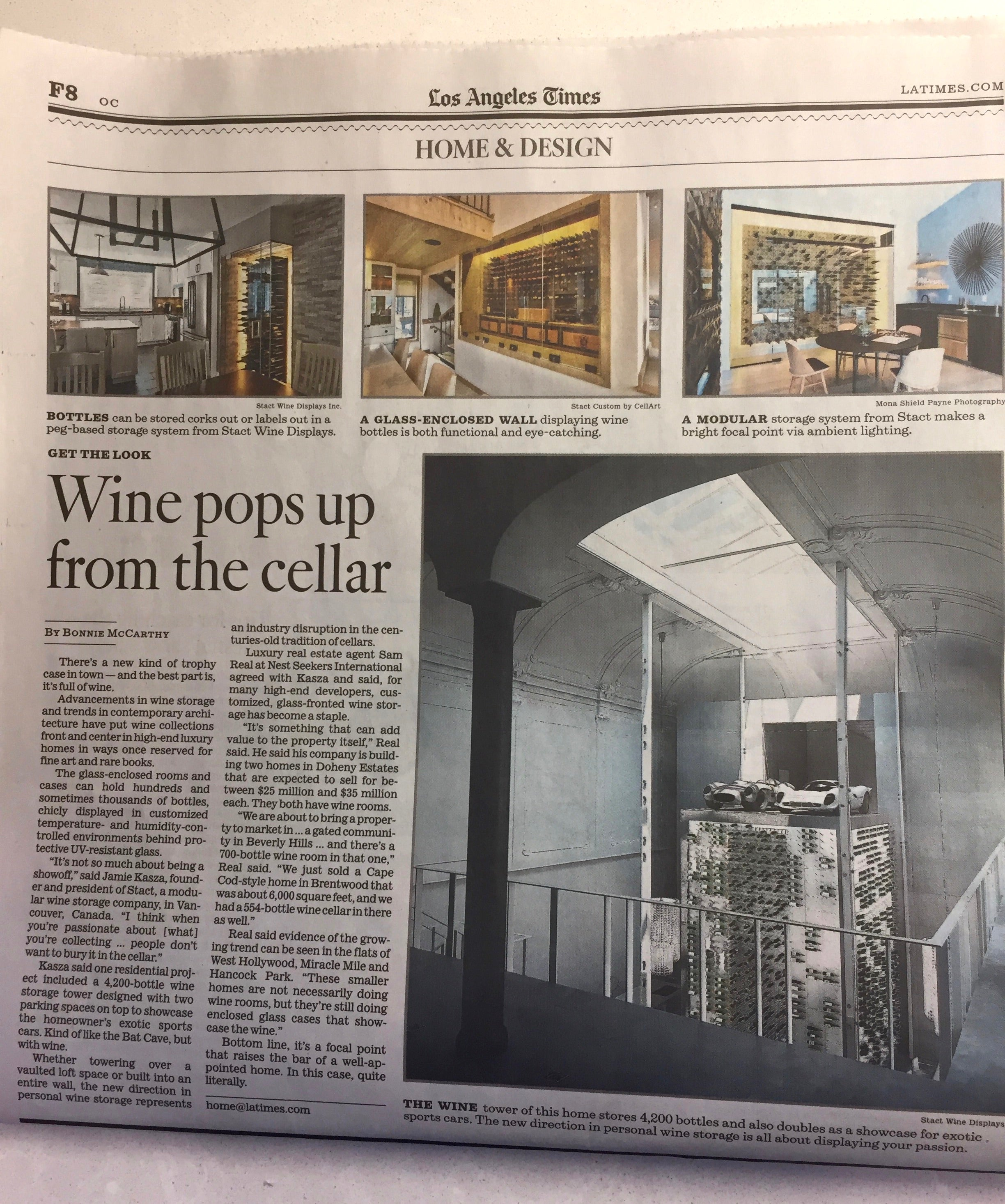 glass wine rooms - los angeles times