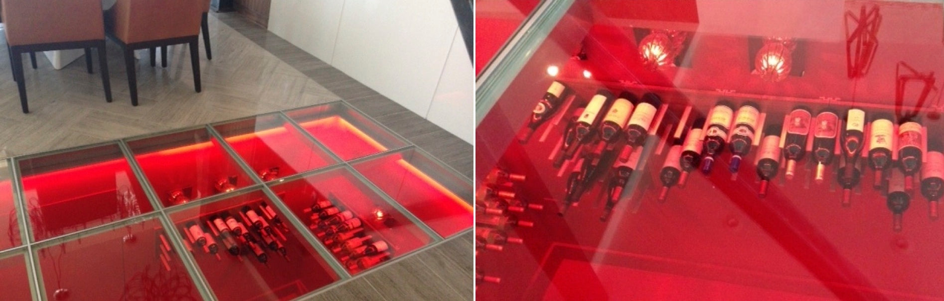 glass floor wine cellar