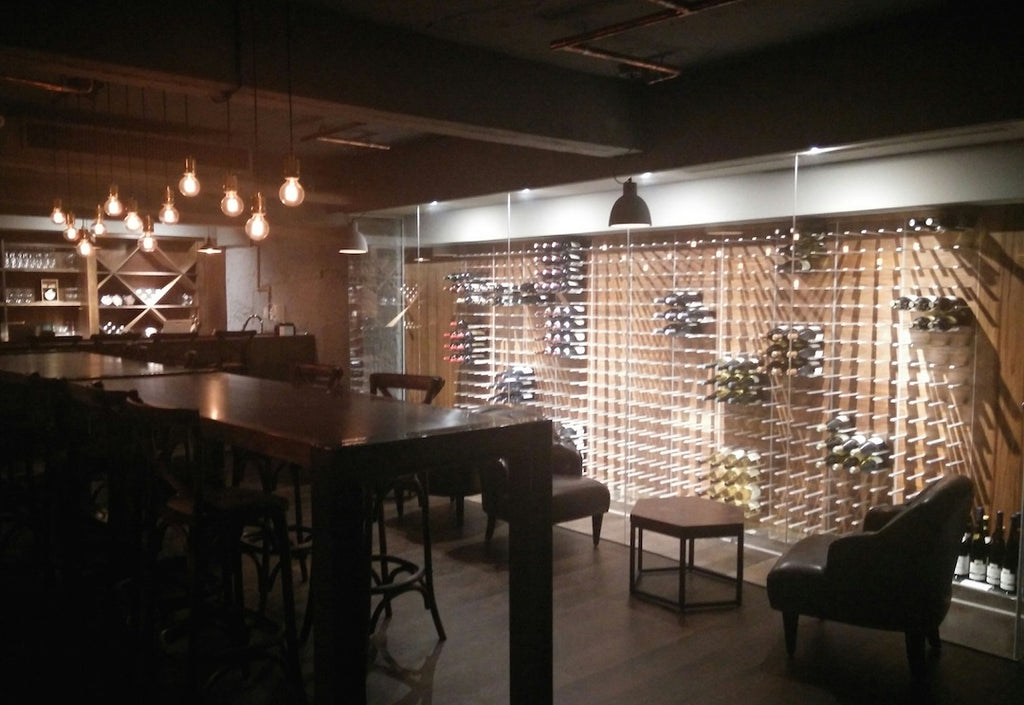 glass wine cellar system