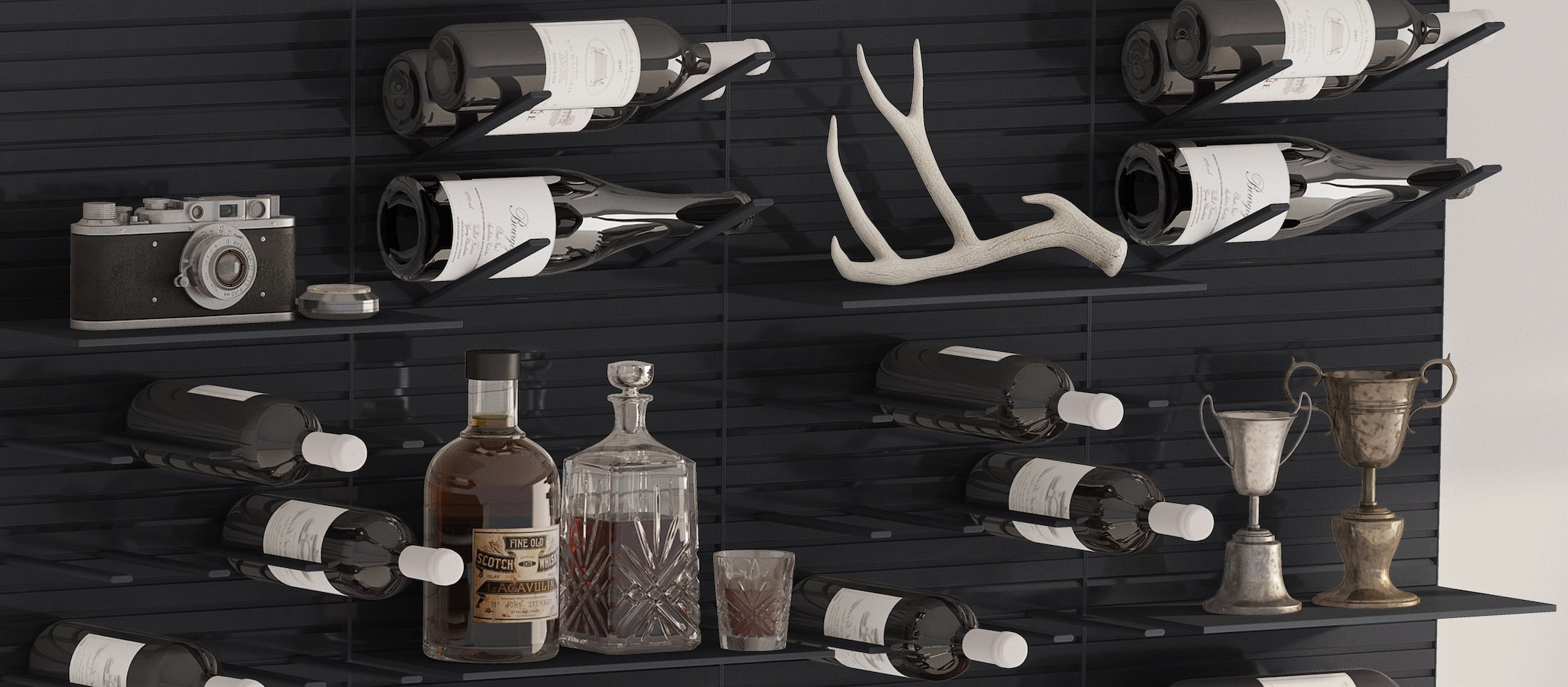 modern bar wall storage