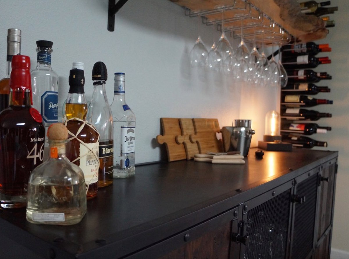 home bar storage
