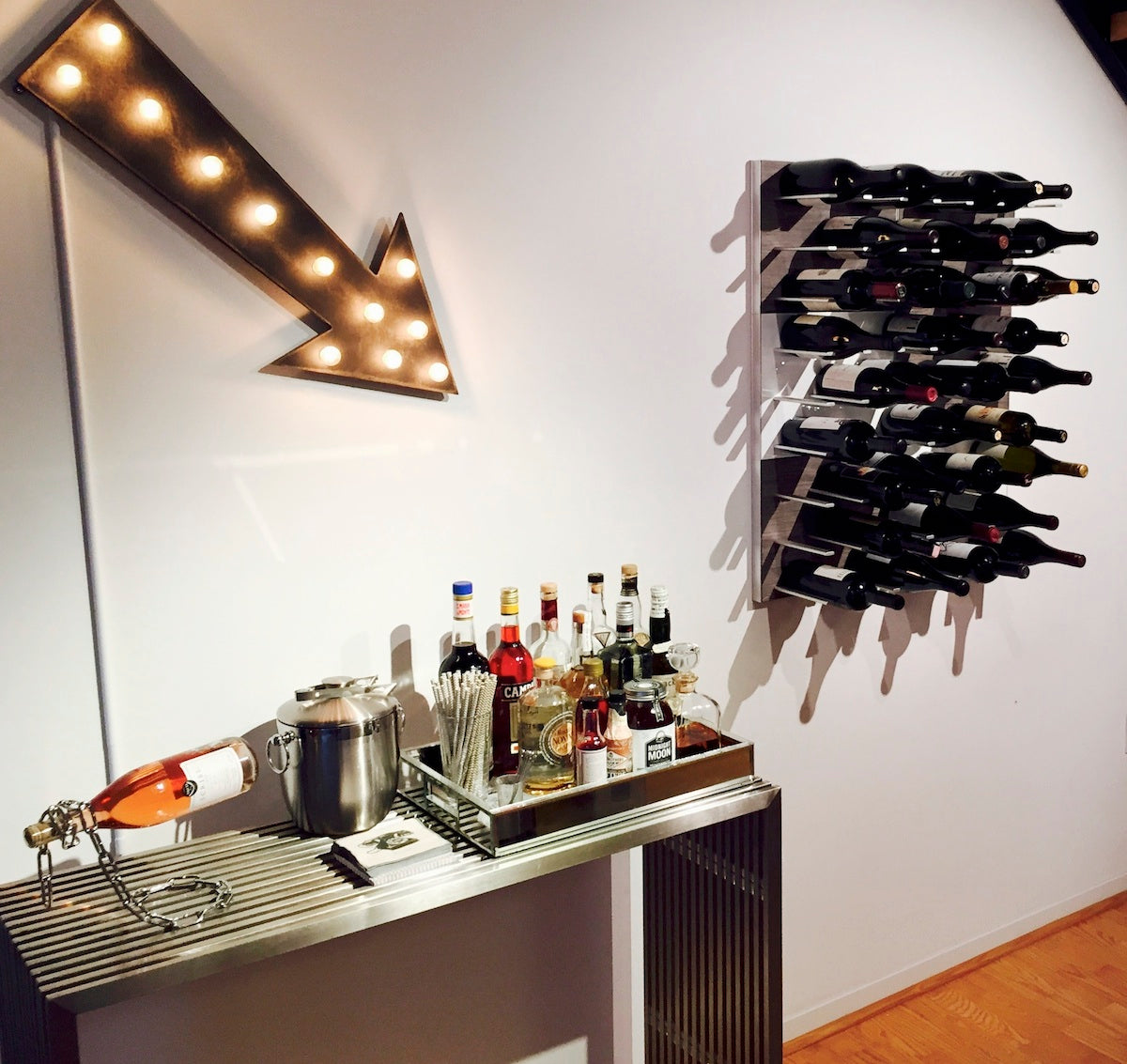 home bar wine storage racks