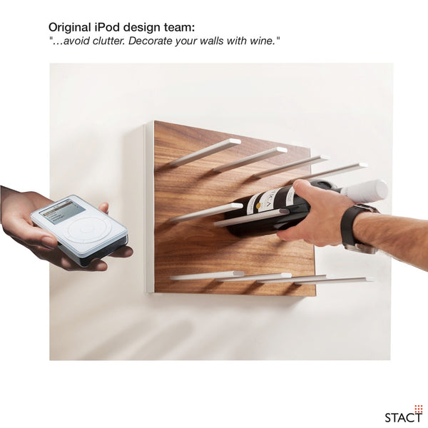 apple STACT wine rack - iPod iRack