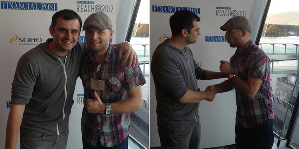 FP reach 2013 - jamie kasza with gary vaynerchuk garyvee at