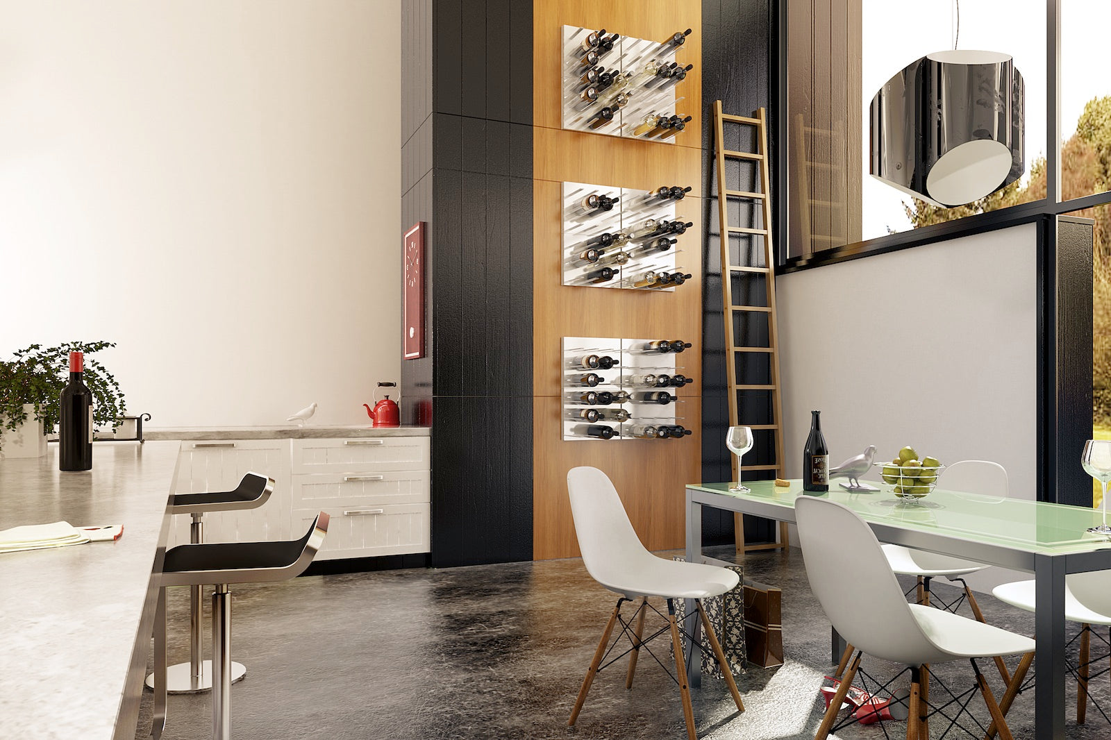 Wine Storage For Modern Kitchen Interior Designs