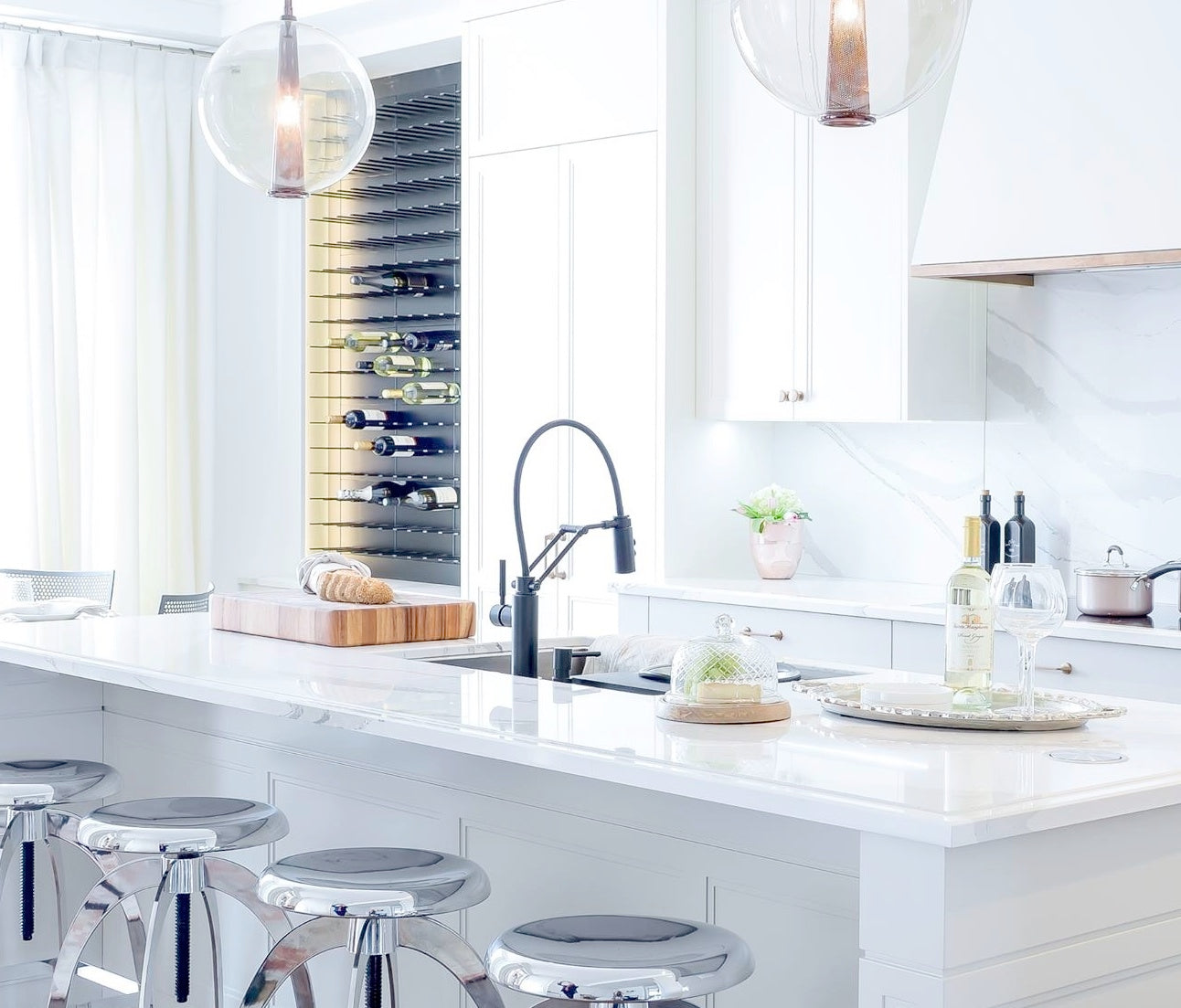 dream kitchen wine storage on marilyn denis show with ramsin khachi