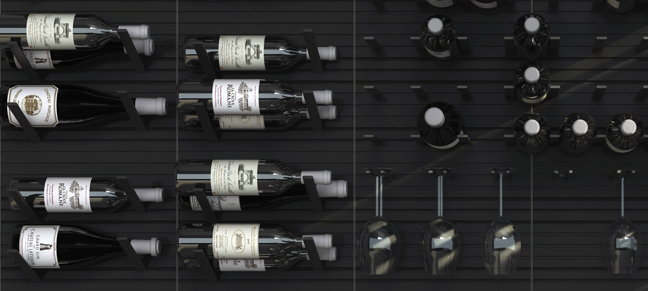 label-out metal peg wine racks