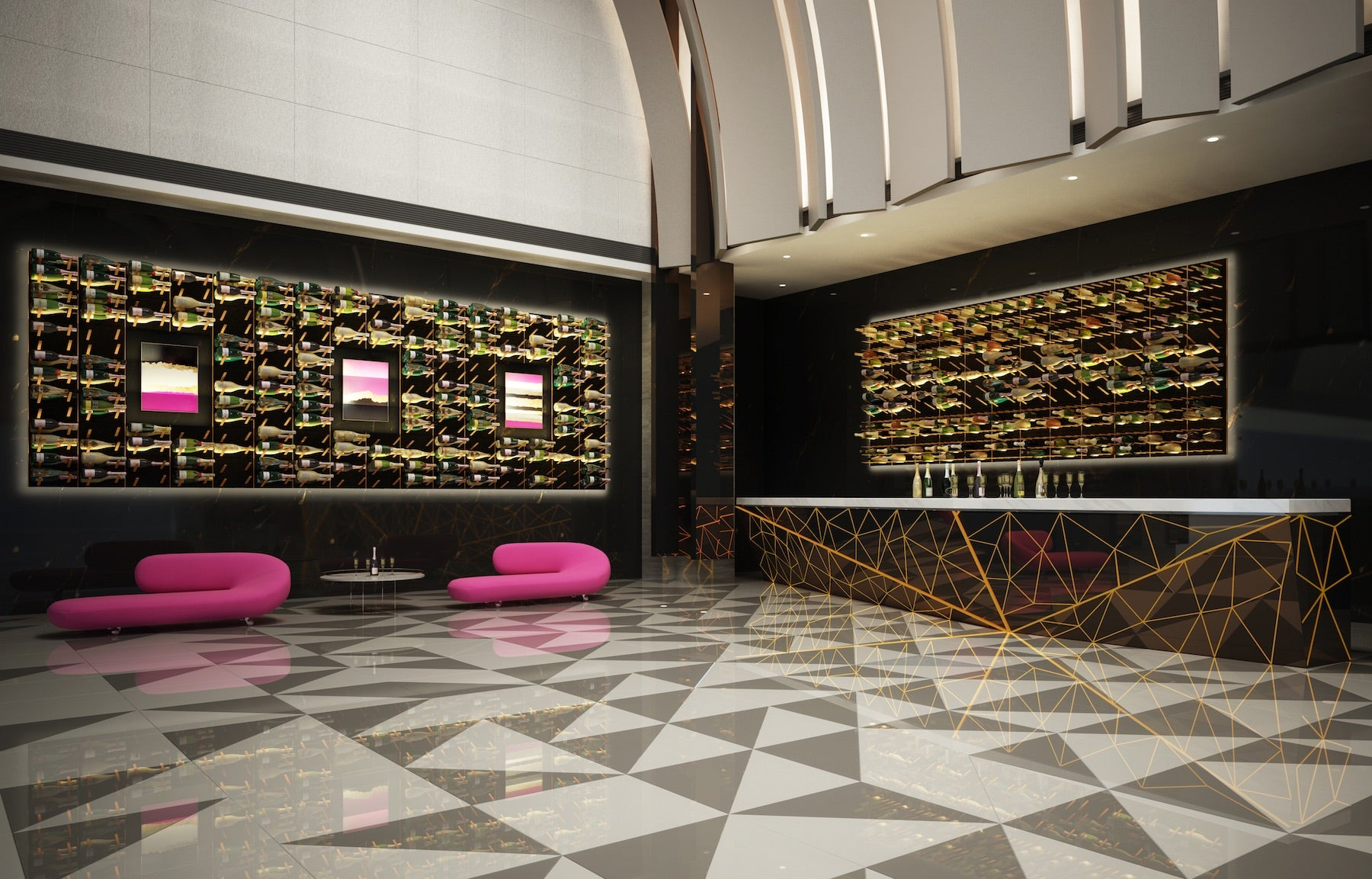 luxury wine room in hotel