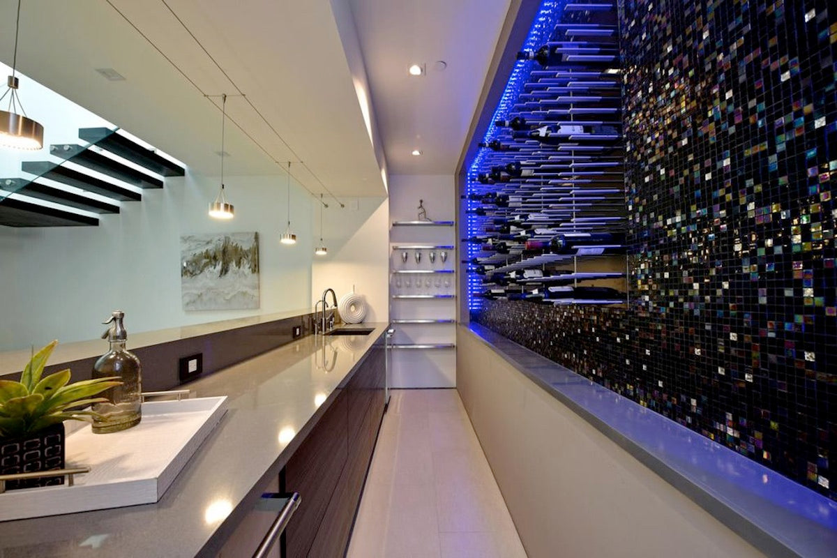 luxury bar wine cellar design