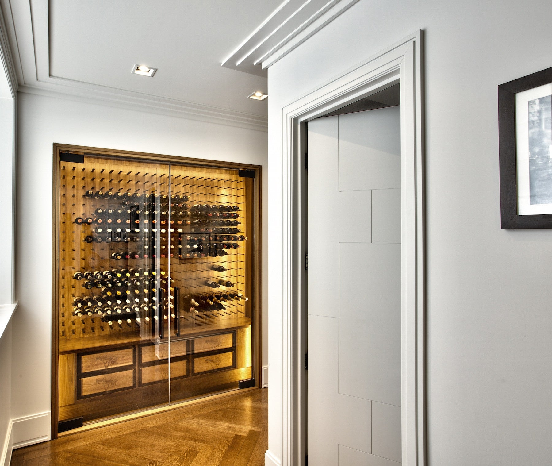 luxury wine cellar in modern home