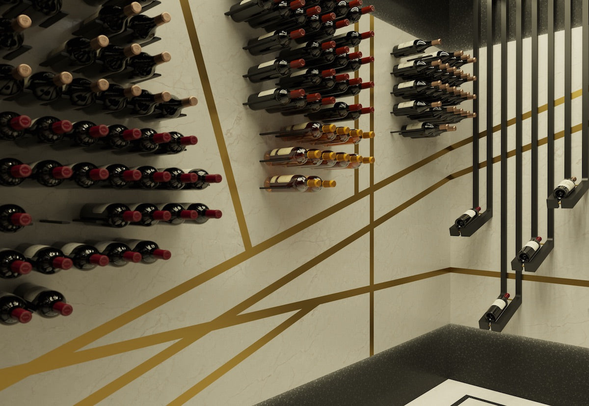 art deco wine cellar