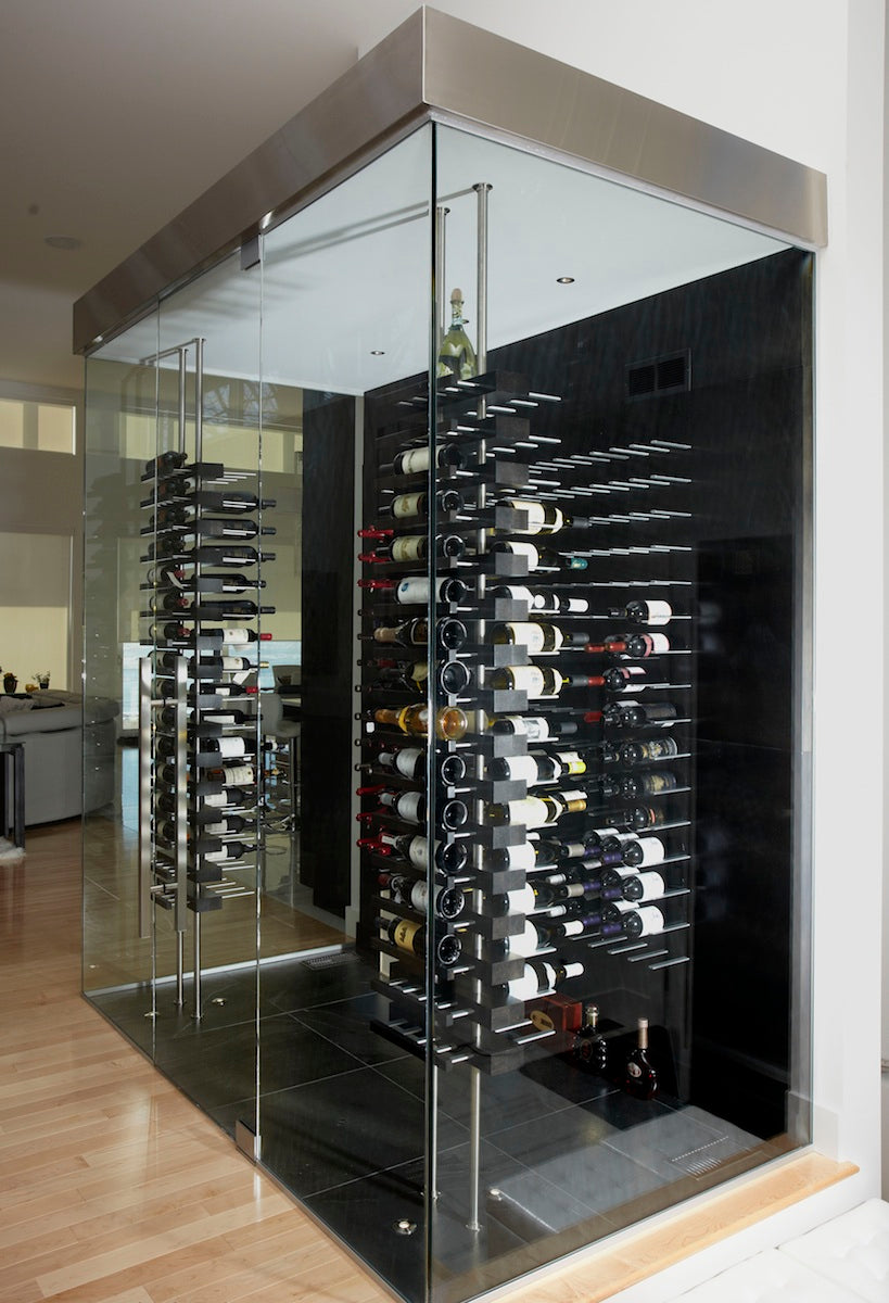 luxury wine cellar with STACT custom wine racks by cellart