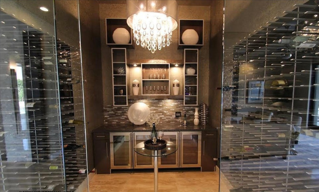 glass wine room