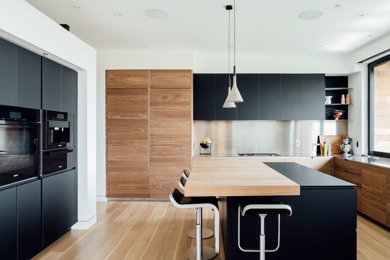 scandinavian modern contemporary kitchen design - park city utah