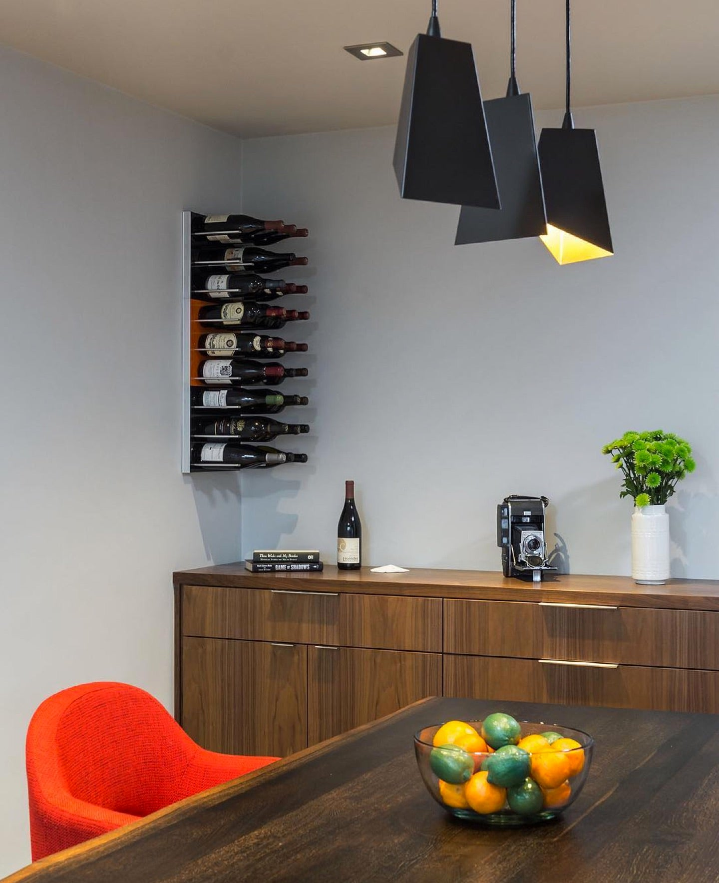 wine storage for modern dining rooms - jordan iverson custom homes