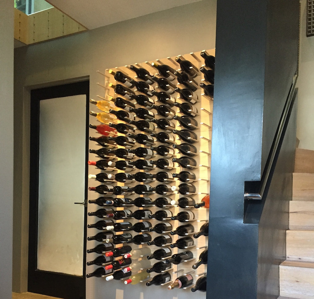 modern wine cellar design in San Francisco