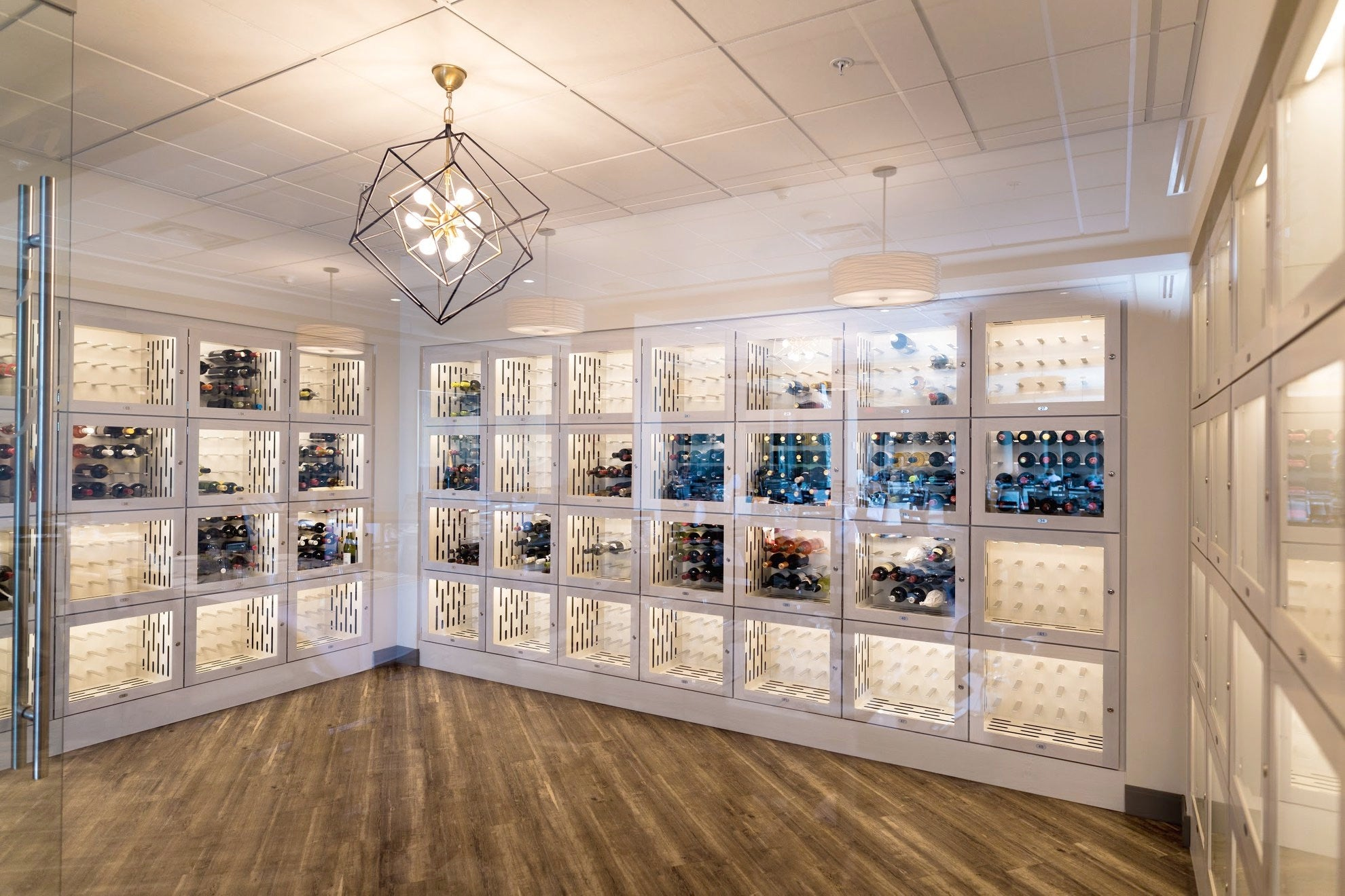 modern wine lockers