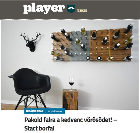 player.hu STACT wine wall