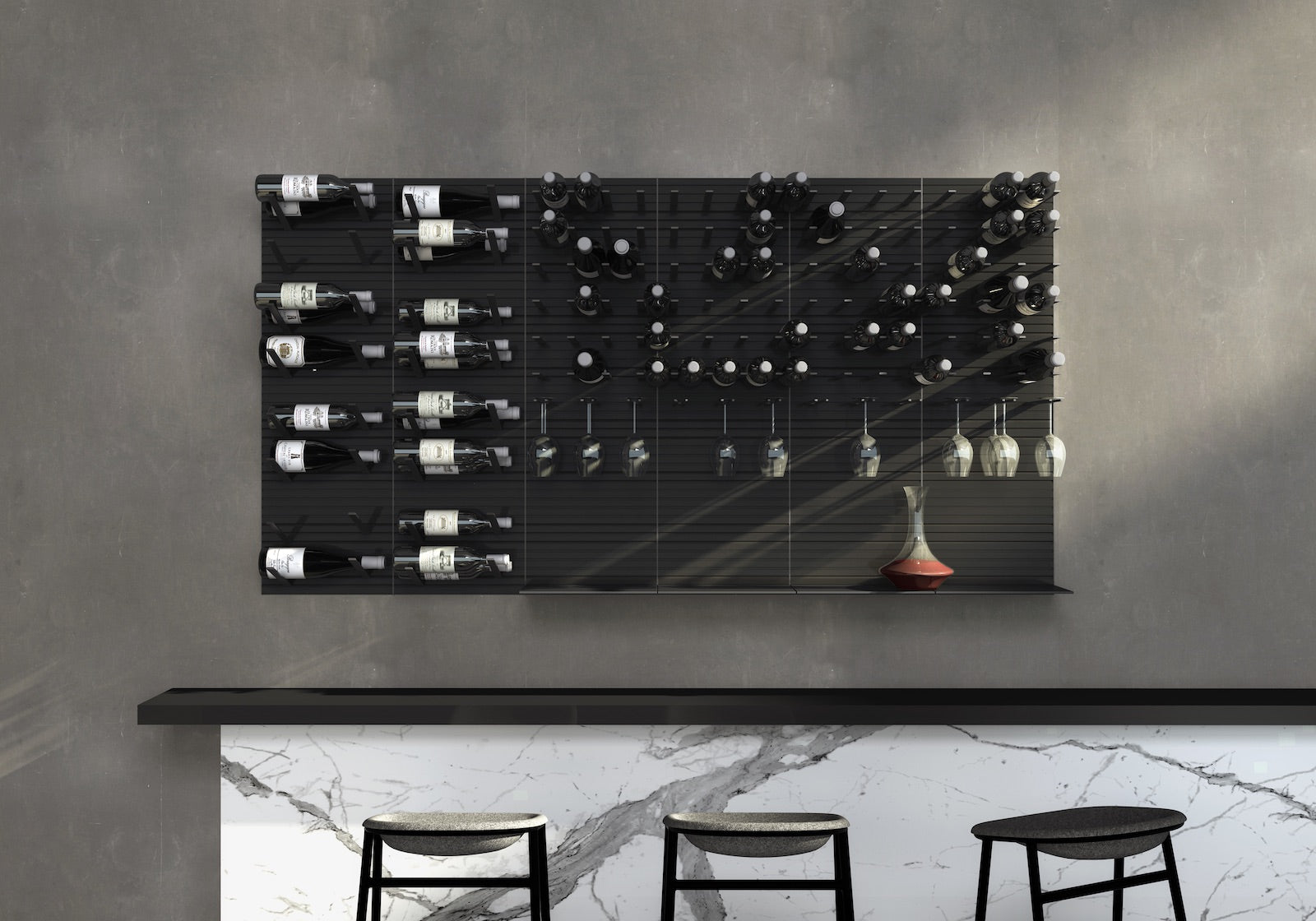 modern bar wine storage solutions