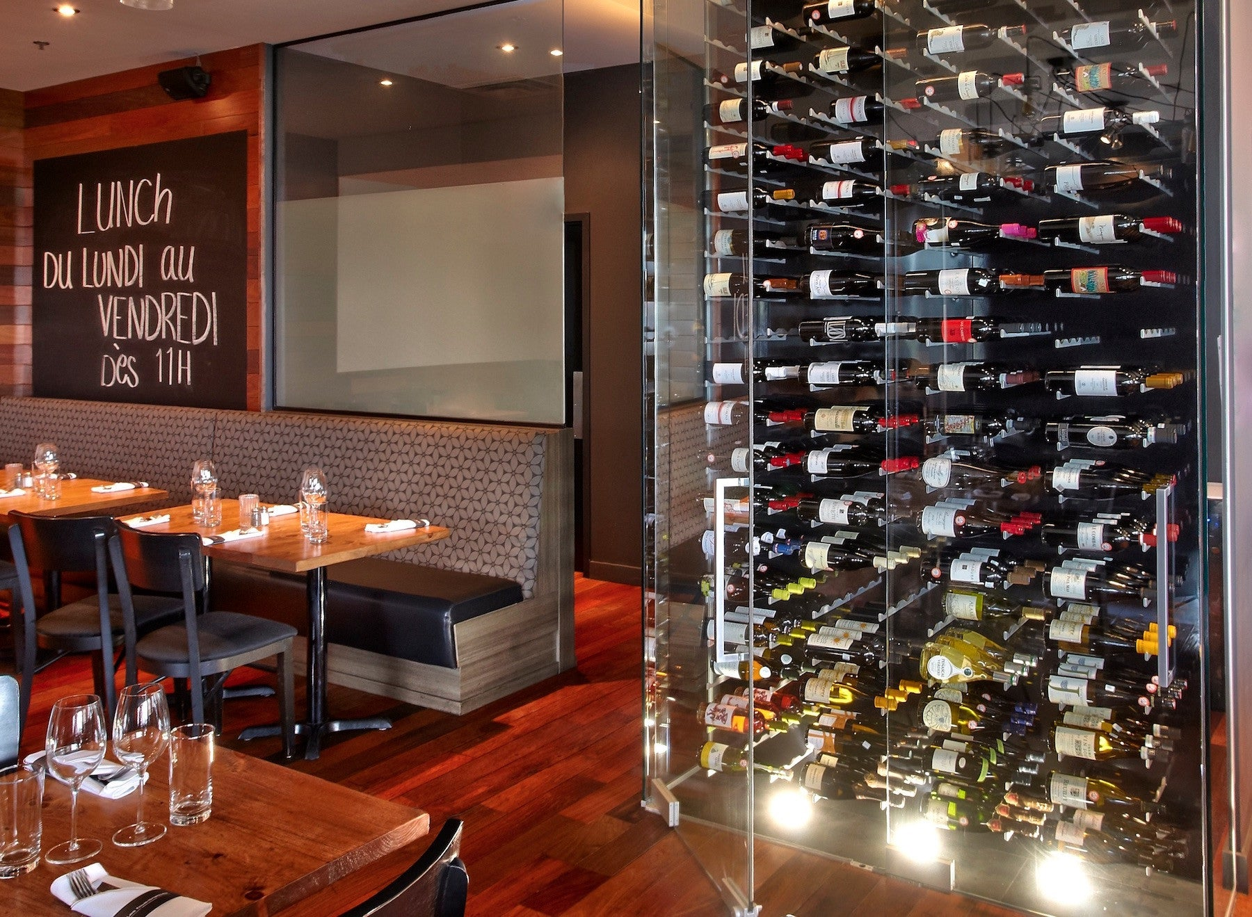 restaurant custom wine cellar design