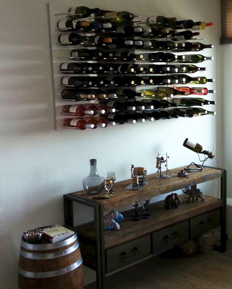 rustic modern wine racks