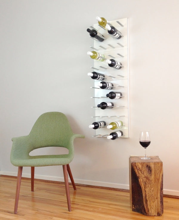 STACT wine racks in white