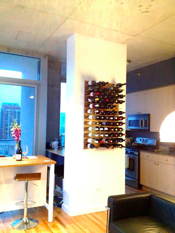 STACT wine racks in the kitchen