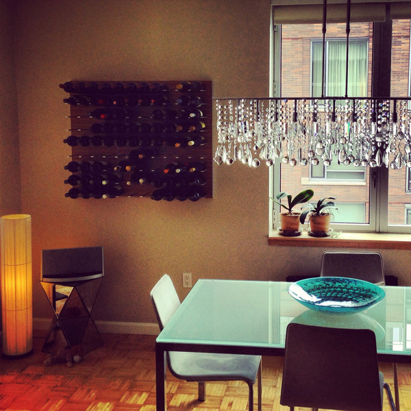 STACT wine racks in New York apartment living