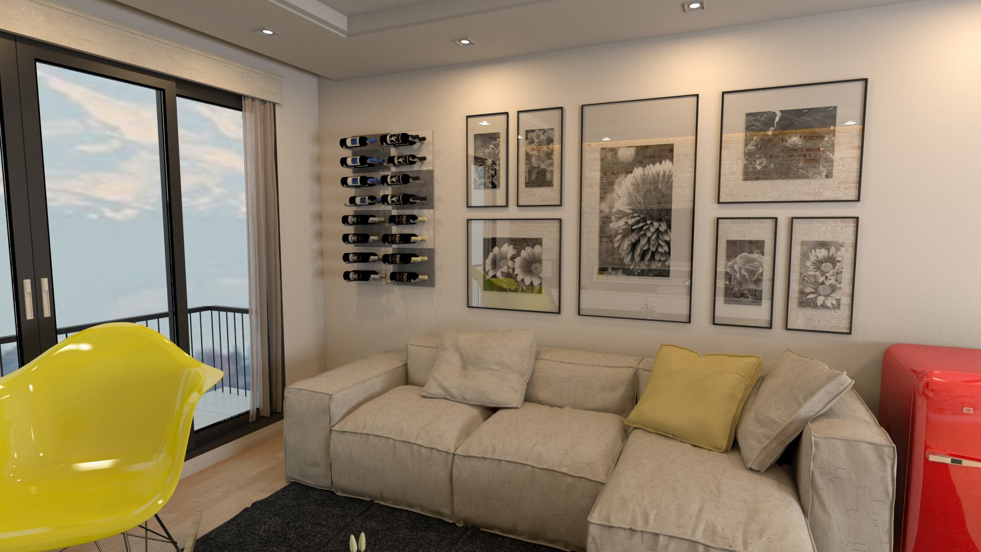 stylish wall-mounted wine displays for home