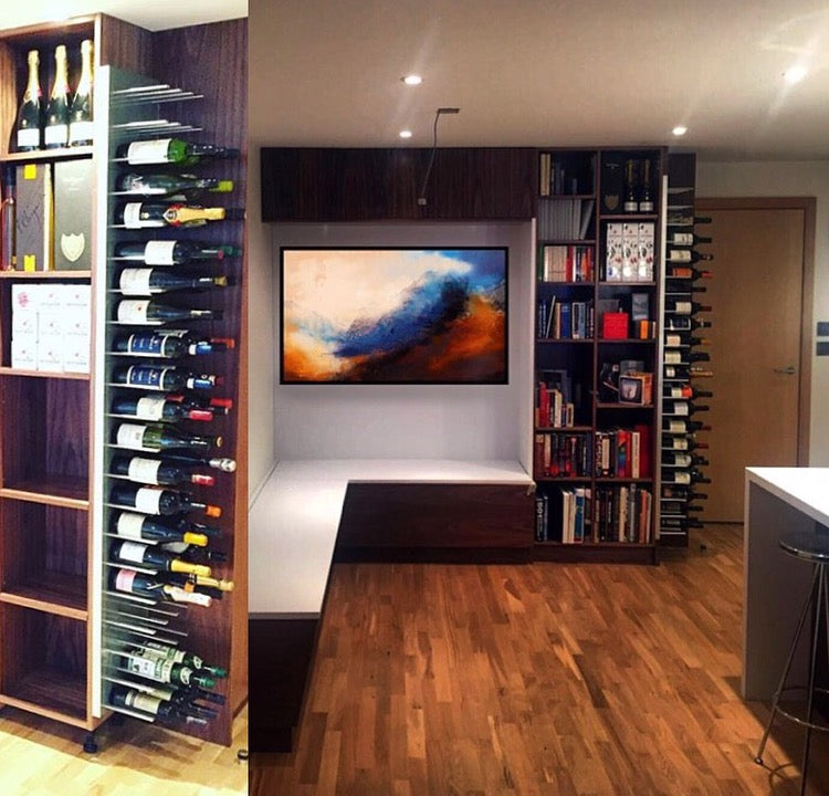 stylish storage design for home bars