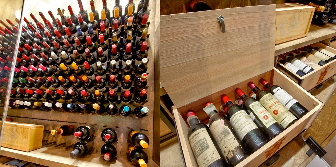 locking wine crate cabinets for wine cellar