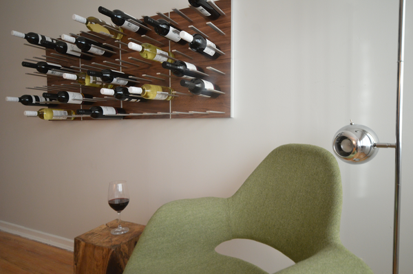 STACT wine racks with green chair