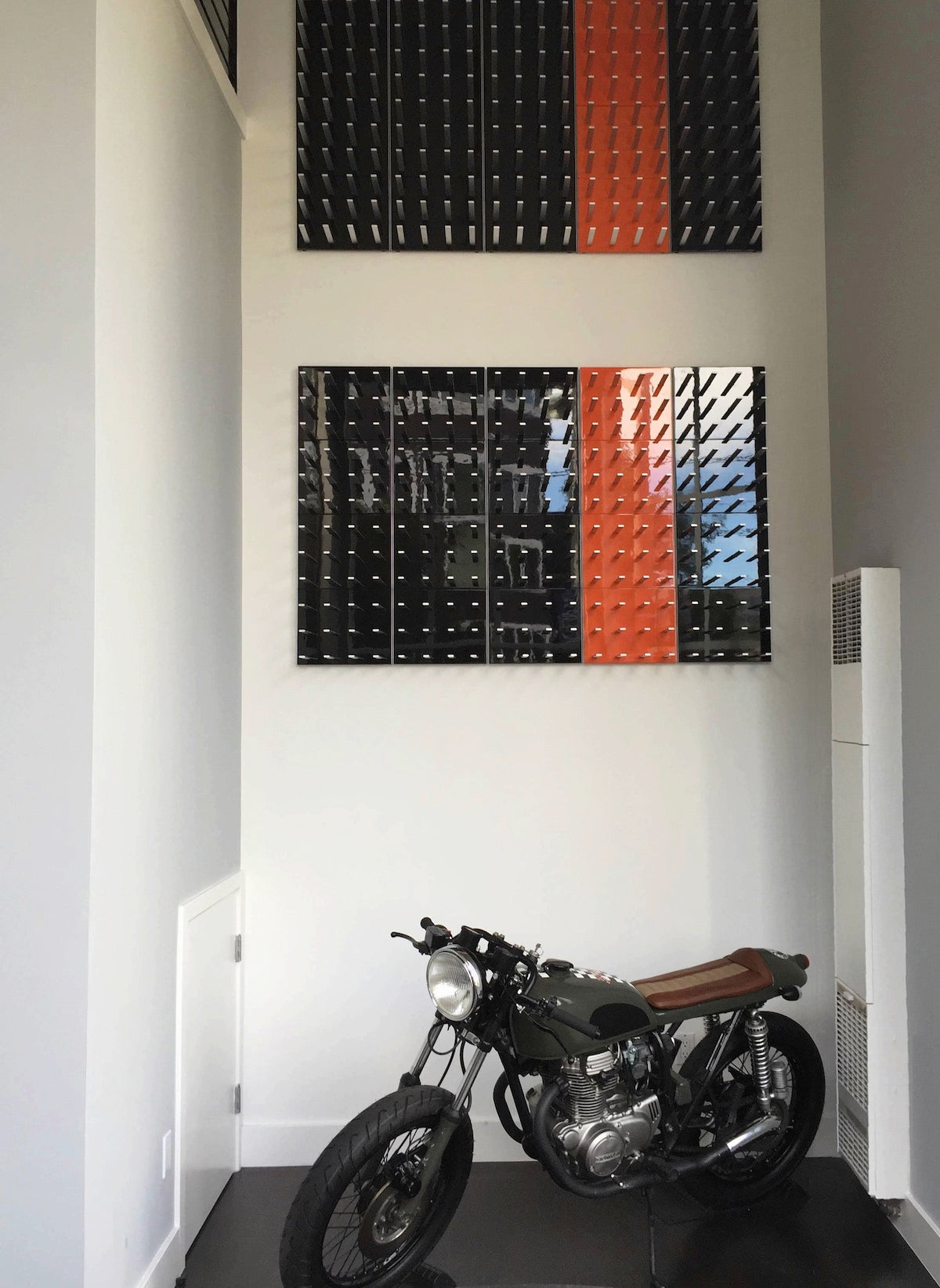 wine and bike storage display