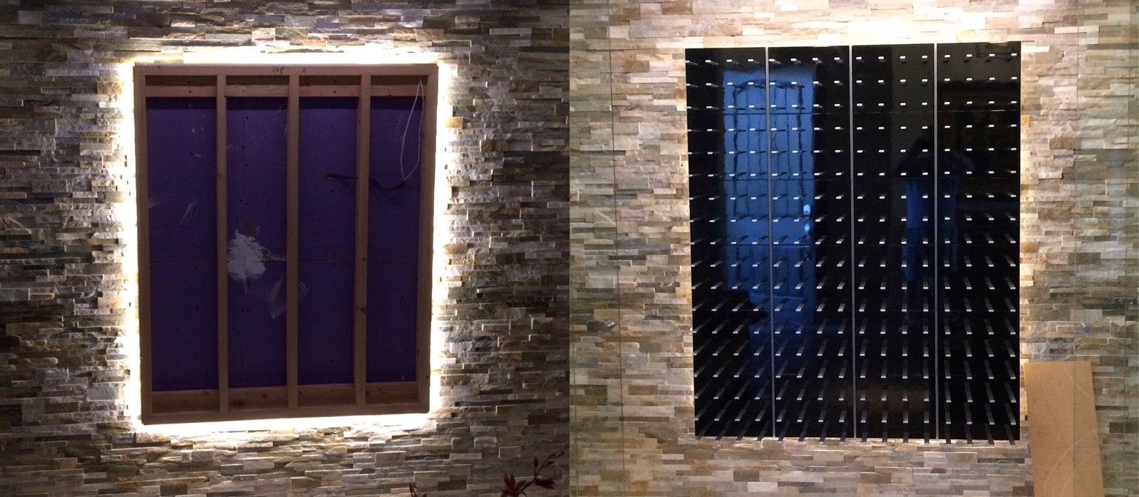 LED backlighting for wine cellar