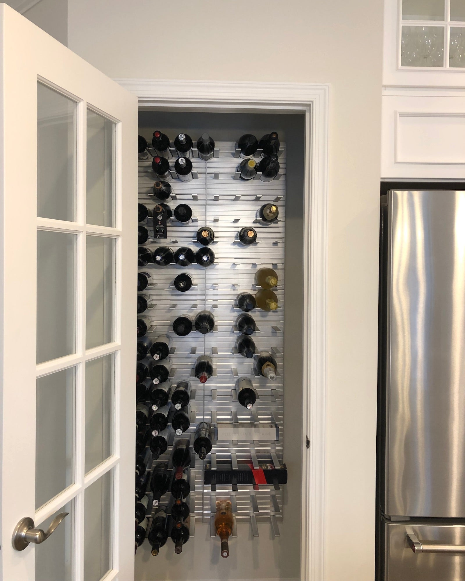wine closet with glass door