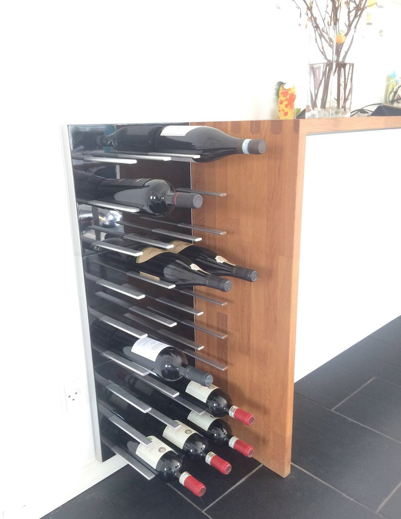 black gloss wine racks