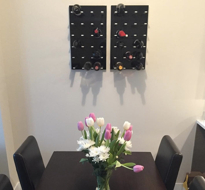 wine holders for the wall in dining room