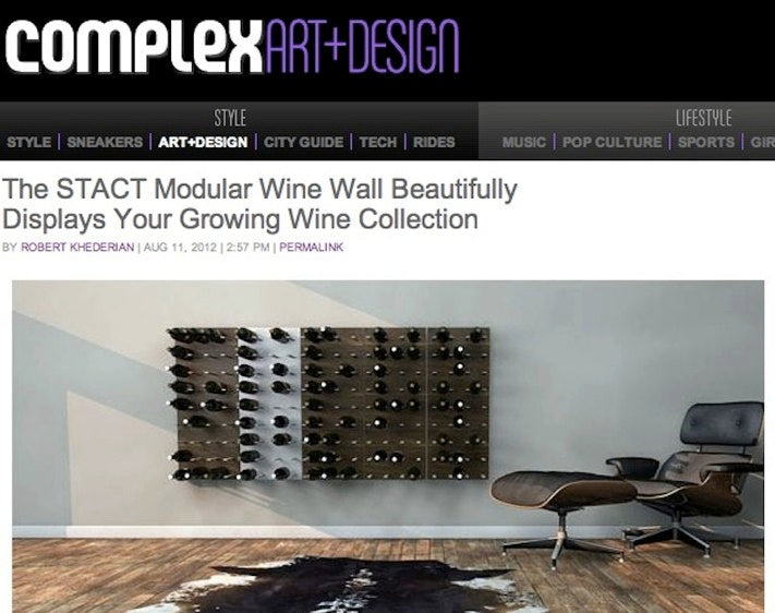stylish wine racks via complex magazine