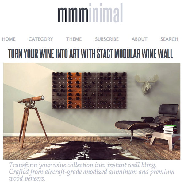 minimal design wine rack wall art