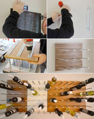 wine rack installation by design milk