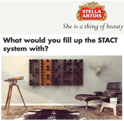 wine rack for stella artois beer bottle collection