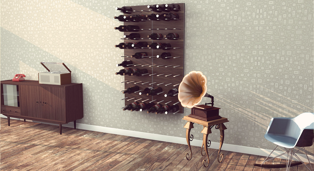 wood and aluminium wine racks